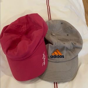 2 hats 1 of them Adidas